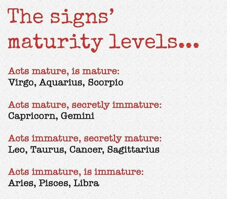 Horoscopes Quotes Acts Immature Secretly Mature Accuracy Is Spot