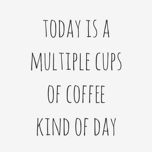 Trust Quotes : Happy Monday! Drink all the coffee (or tea ...