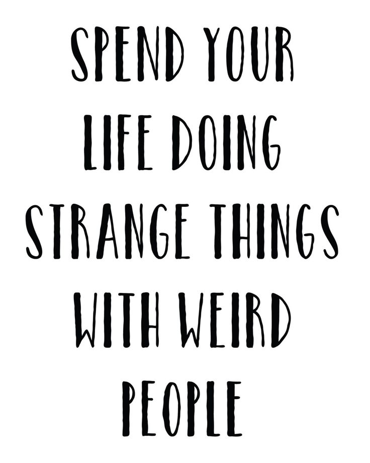 Best Funny Quotes Spend Your Life Doing Strange Things With