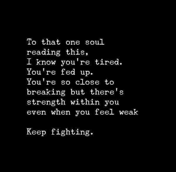 Tired fighting love quotes