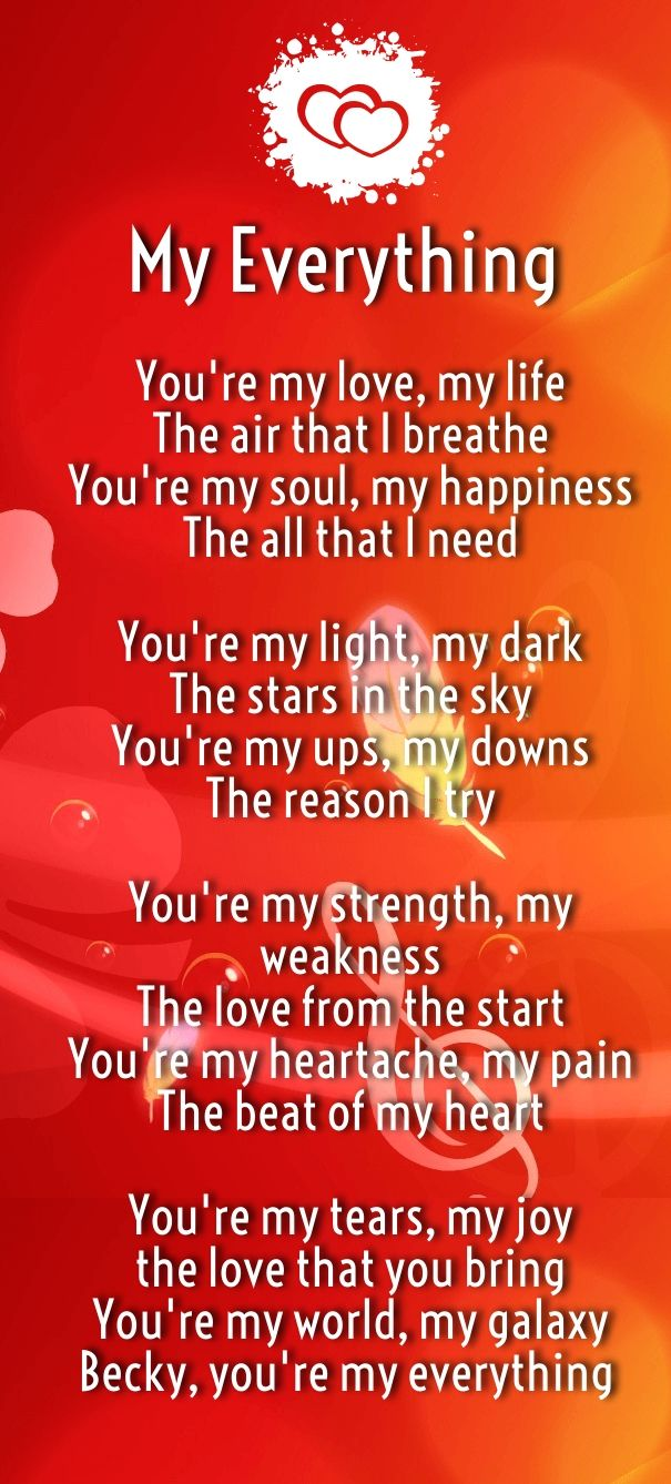 Quotes About Love For Him : How Much I Love You Poems for