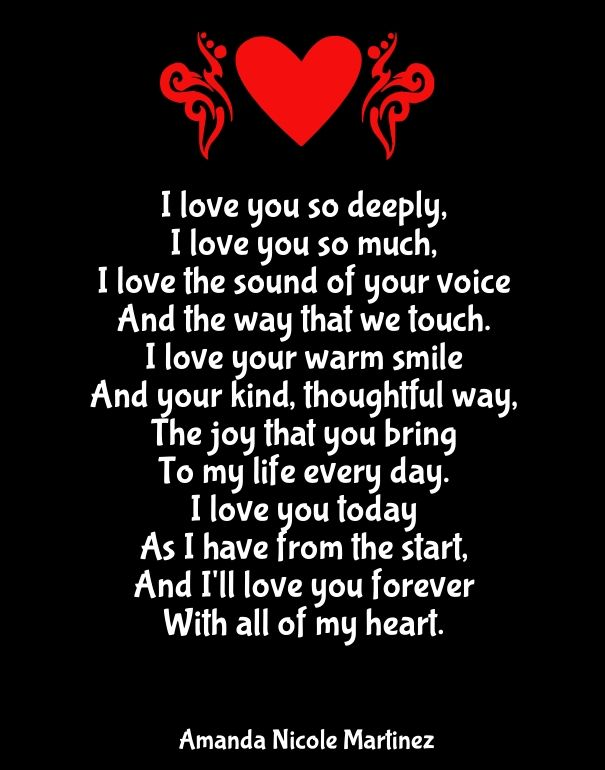 I Love You Quotes For Him: Quotes About Love For Him : Why I Love You Poems For Her