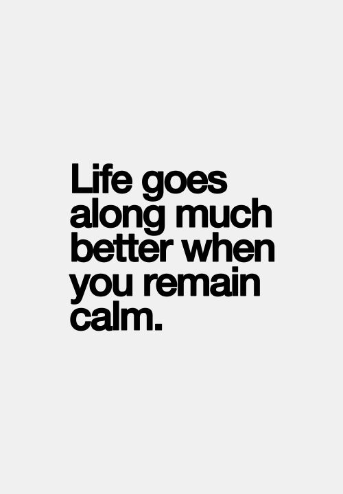 Wisdom Quotes Life Goes Along Much Better When You Remain Calm