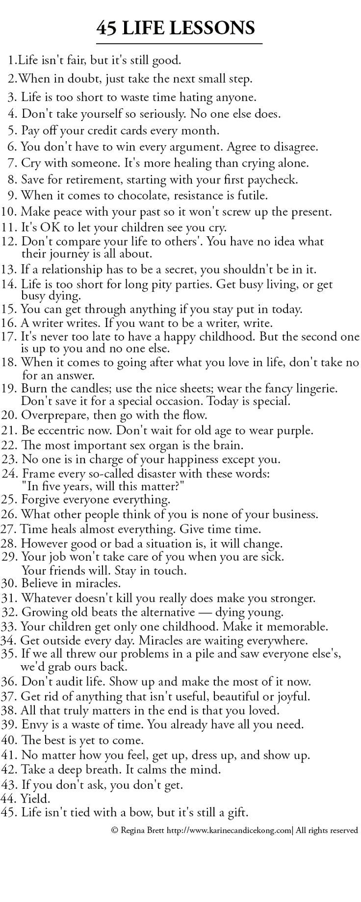 Quote List Wisdom Quotes  List Of 45 Great Life Lessons To Life By. Omg