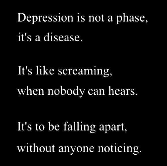 Depression Short Quotes: Inspirational Quotes About Strength: Depression Is One