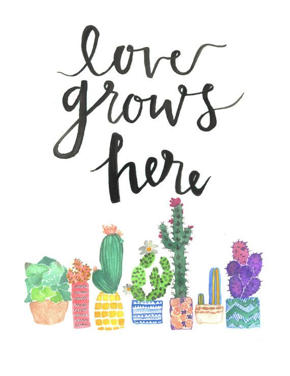 love quotes a print of my original watercolor quote