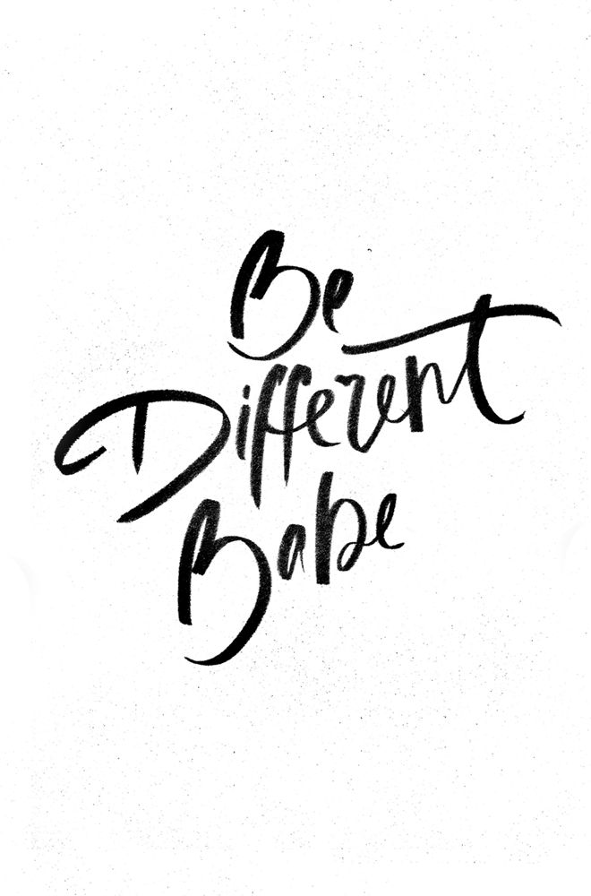Motivational Quotes : Be Different Babe… – OMG Quotes | Your ...
