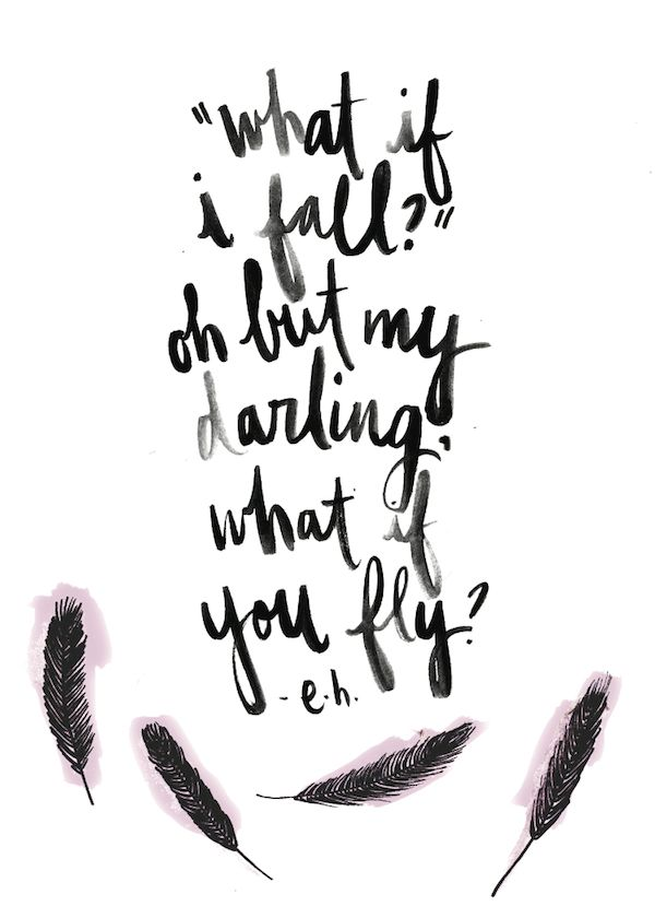 Motivational Quotes What If I Fall What If You Fly Omg Quotes