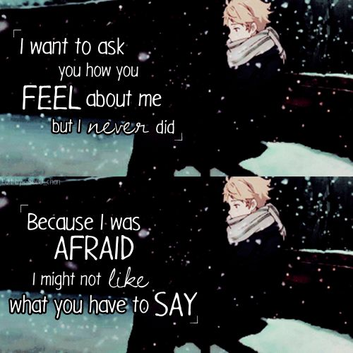 Saying Quotes About Sadness: Quotes About Love For Him : Anime : Kyoukai No Kanata