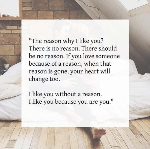 QUOTES ABOUT LOVE : I like you because you are you  – OMG