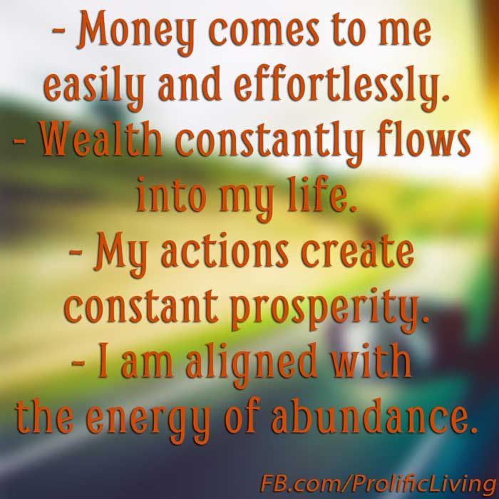 Motivational Inspirational Quotes: Success Quotes : 25 Money Affirmations To Attract Wealth