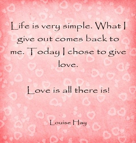 Inspirational Quotes About Positive: Wisdom Quotes : Every Day I Chose To Give Love!