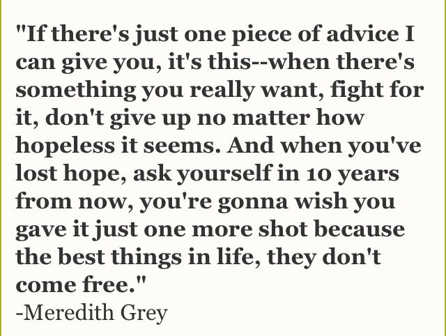 Wisdom Quotes : Grey\'s anatomy quotes… – OMG Quotes | Your daily ...