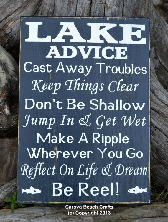 Lake house decor quotes about life