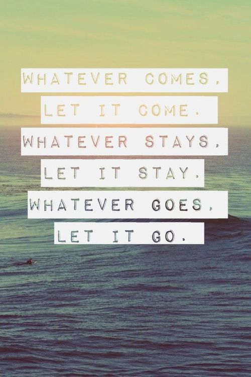 Wisdom Quotes Whatever Comes Let It Come Whatever Stays Let It