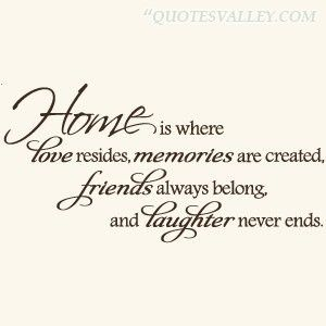 Quotes On Home Classy Love Quotes  Homeiswhereloveresidesmemoriesarecreathed