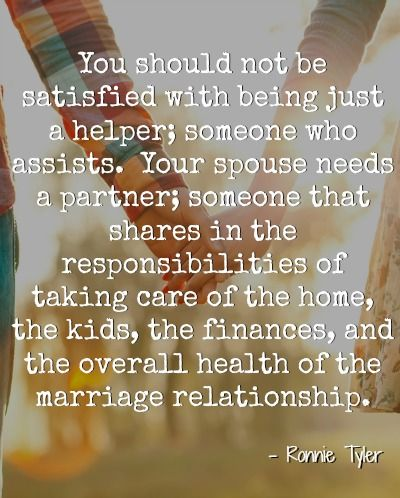 Love Quotes Your Spouse Needs A Partner Because As Youre Building