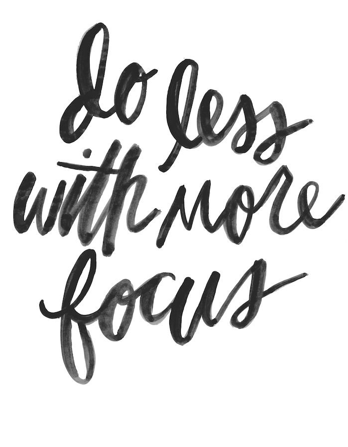 Motivational Quotes : Do less with more focus – OMG Quotes | Your ...