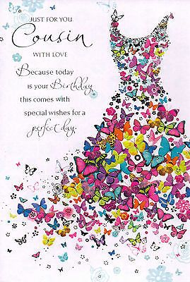 As The Quote Says Description Female Cousin Traditional Birthday Card