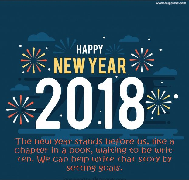 as the quote says description happy new year 2018 ecard greeting romantic