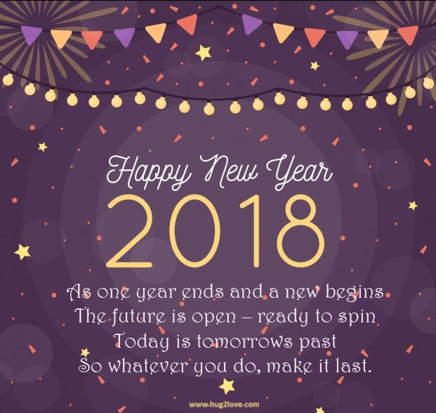 as the quote says description happy new year 2018 wishes