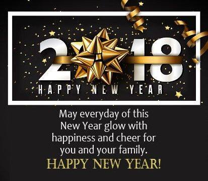 As The Quote Says U2013 Description. New Year Wishes 2018 Black