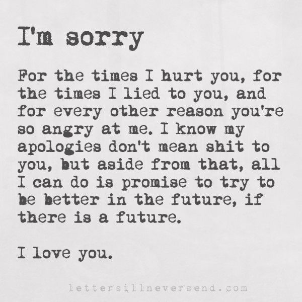 Im sorry letter to girlfriend