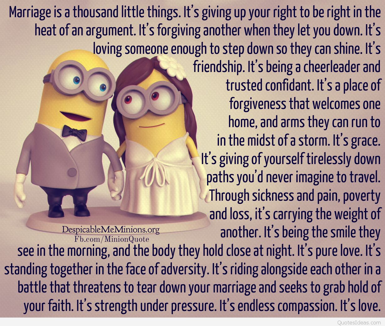 Minion-Quotes-Marriage-is-a-thousand-little-things