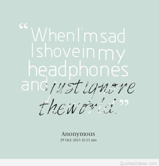 I'm sad quote message