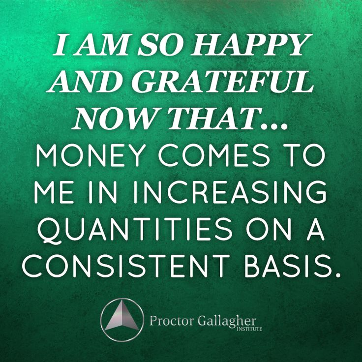 success quotes i am so happy and grateful now that money comes