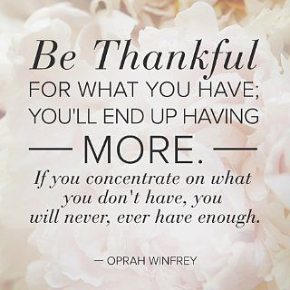 As The Quote Says U2013 Description. Wise Words Wednesday: Be Thankful ...