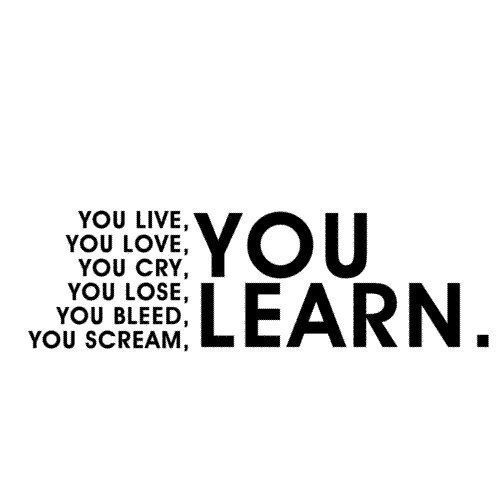 Wisdom Quotes You Live You Love You Cry You Lose You Bleed