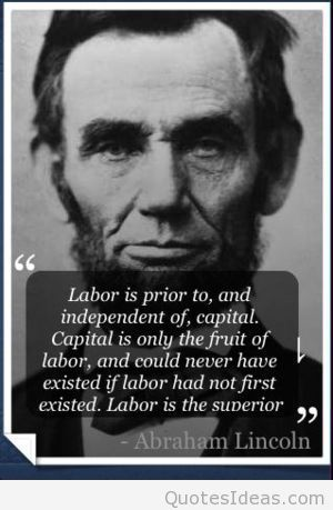 Abraham Lincoln quote with image