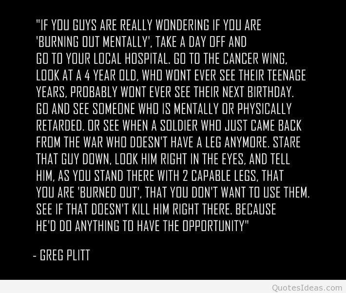 Greg Plit inspiring words