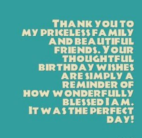 Best Birthday Quotes Birthday Thank You Quotes Facebook Thank You