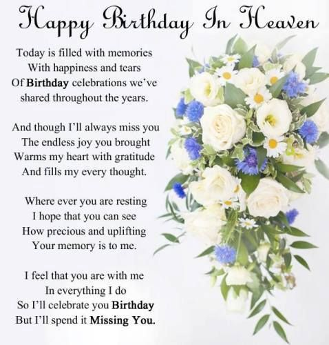 Best Birthday Quotes Happy Birthday In Heaven Mom I Miss You