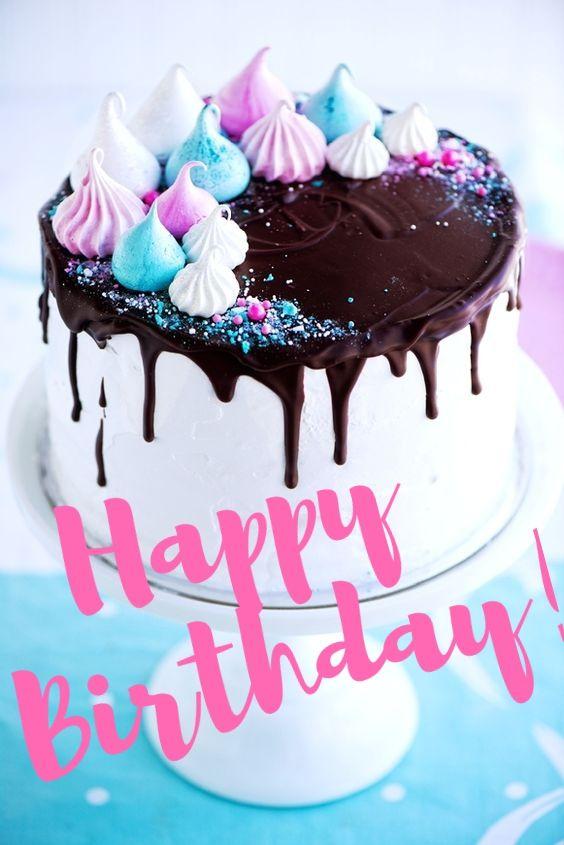 Birthday Quotes Happy Birthday puff cake Celebrate laugh dance