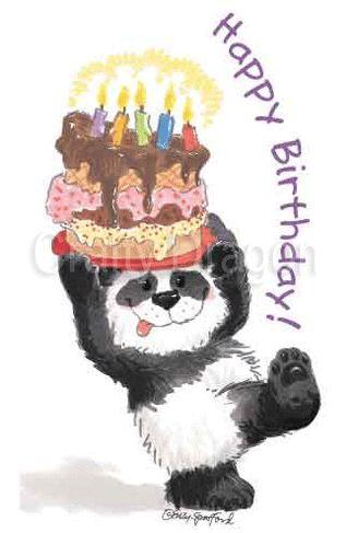 Birthday Quotes Suzys Zoo Mini Sticker Happy Birthday Panda