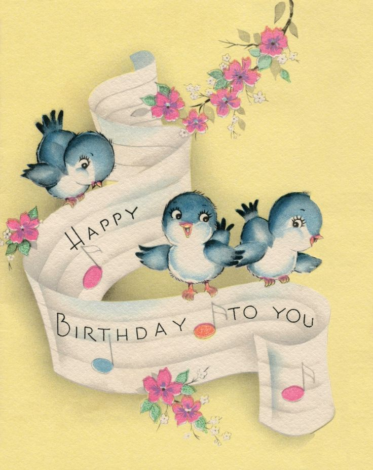 As The Quote Says Description Happy Birthday Vintage Card