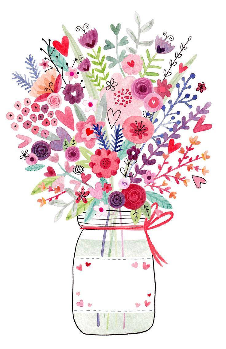 Happy Birthday Quotes Ideas Mason Jar Floral Jpg 800 1 236 Pixels