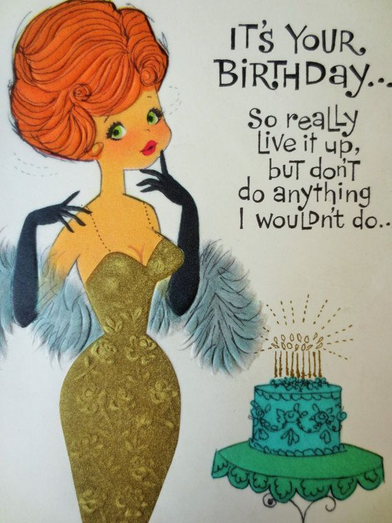 Happy Birthday Quotes Vintage Greeting Card Birthday Card