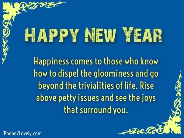as the quote says description happy new year message image