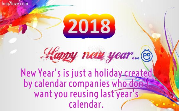 Happy New Year 2018 Wishes Quotes : New Year Funny Jokes Wishes 2018 ...