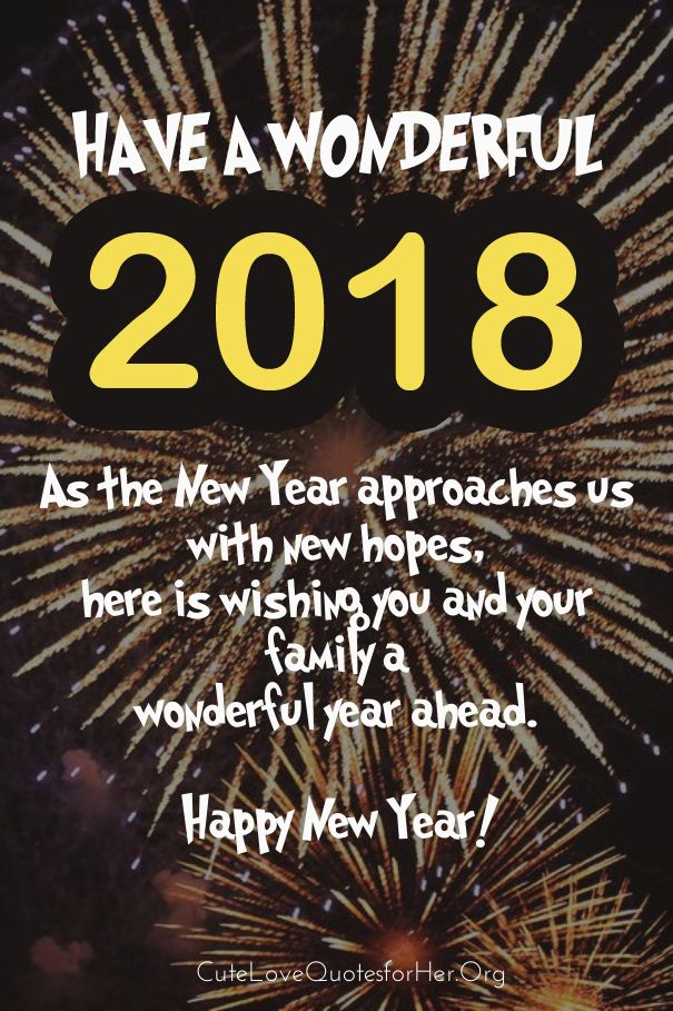 as the quote says description new year greeting cards 2018