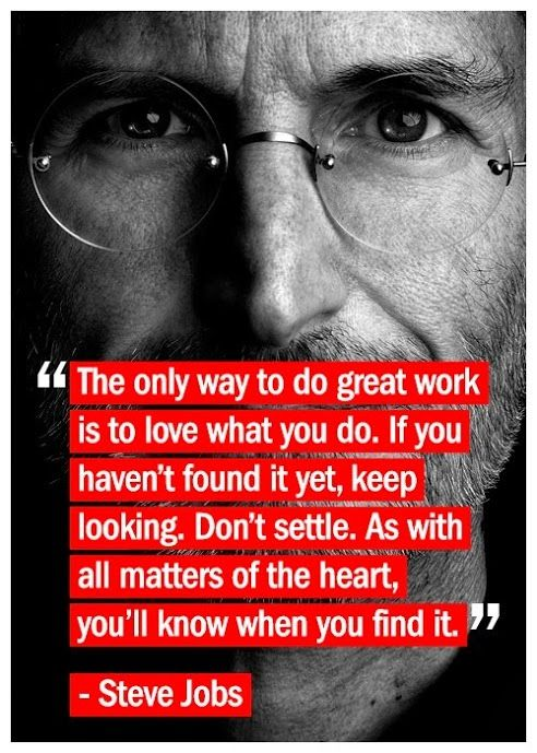 Inspirational Positive Life Quotes Steve Jobs Quote Passion
