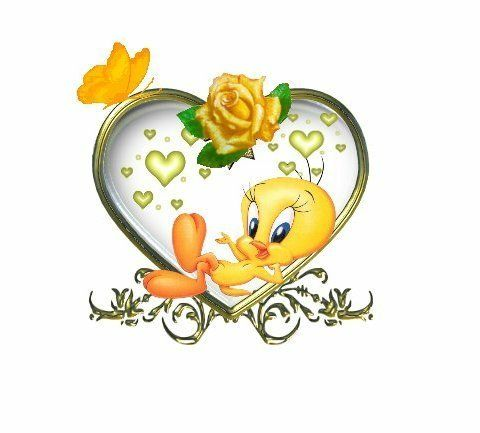 Tweety Bird Quotes | Life Quotes And Words To Live By Tweety Bird With A Yellow Rose My
