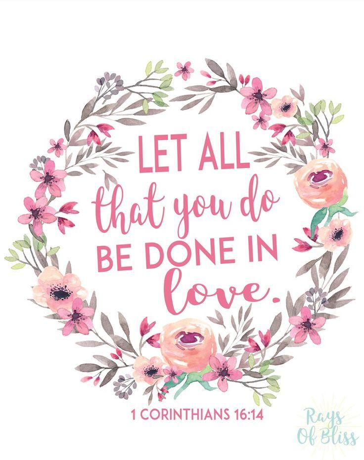 Verse Quotes | Life Quotes Inspiration Free Printable Bible Verse 1 Corinthians