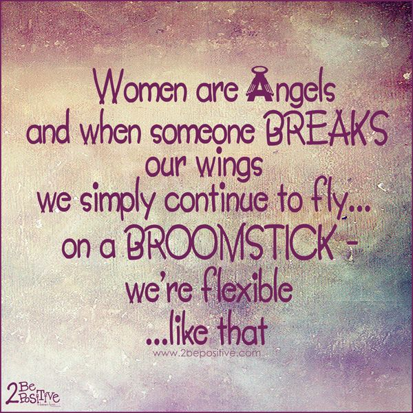 Best Funny Quotes : women are angels and when someone ...