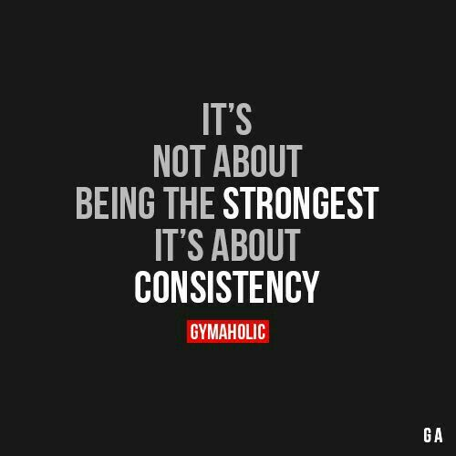 Motivational Quotes Consistency: Best Health And Fitness Quotes : Consistency