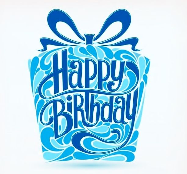 as the quote says description happy birthday blue gift